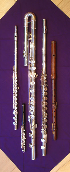 Selection of flutes